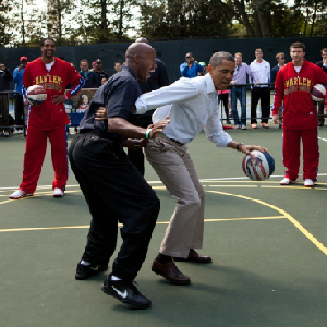 Kids Shoot Obama Basketballs At White House