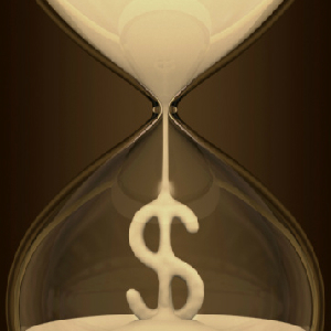 sand dollar in hourglass