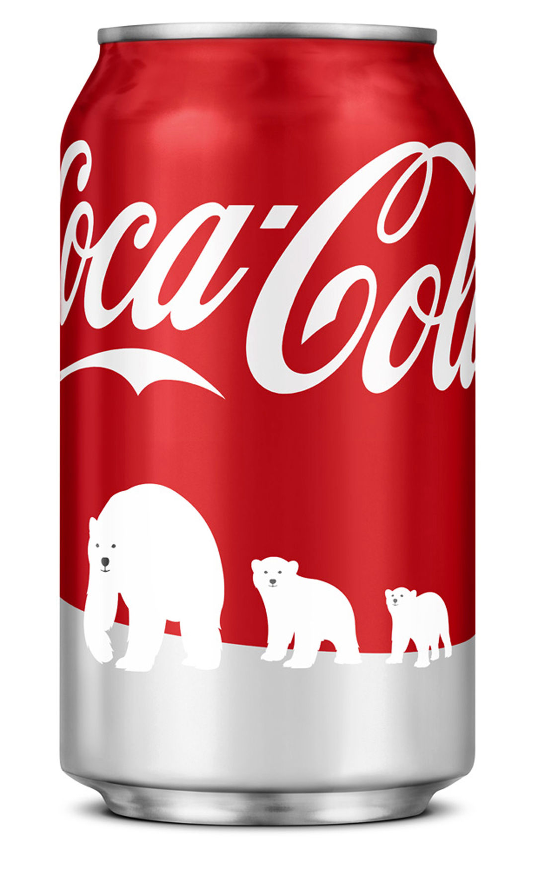 "Coca-Cola's limited edition red ""Arctic Home"" can"