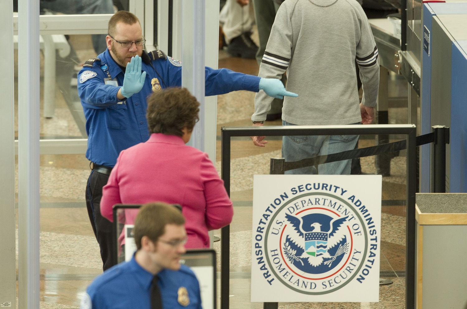TSA Conducts Full-Body Scans and Pat Downs at Denver International Airport