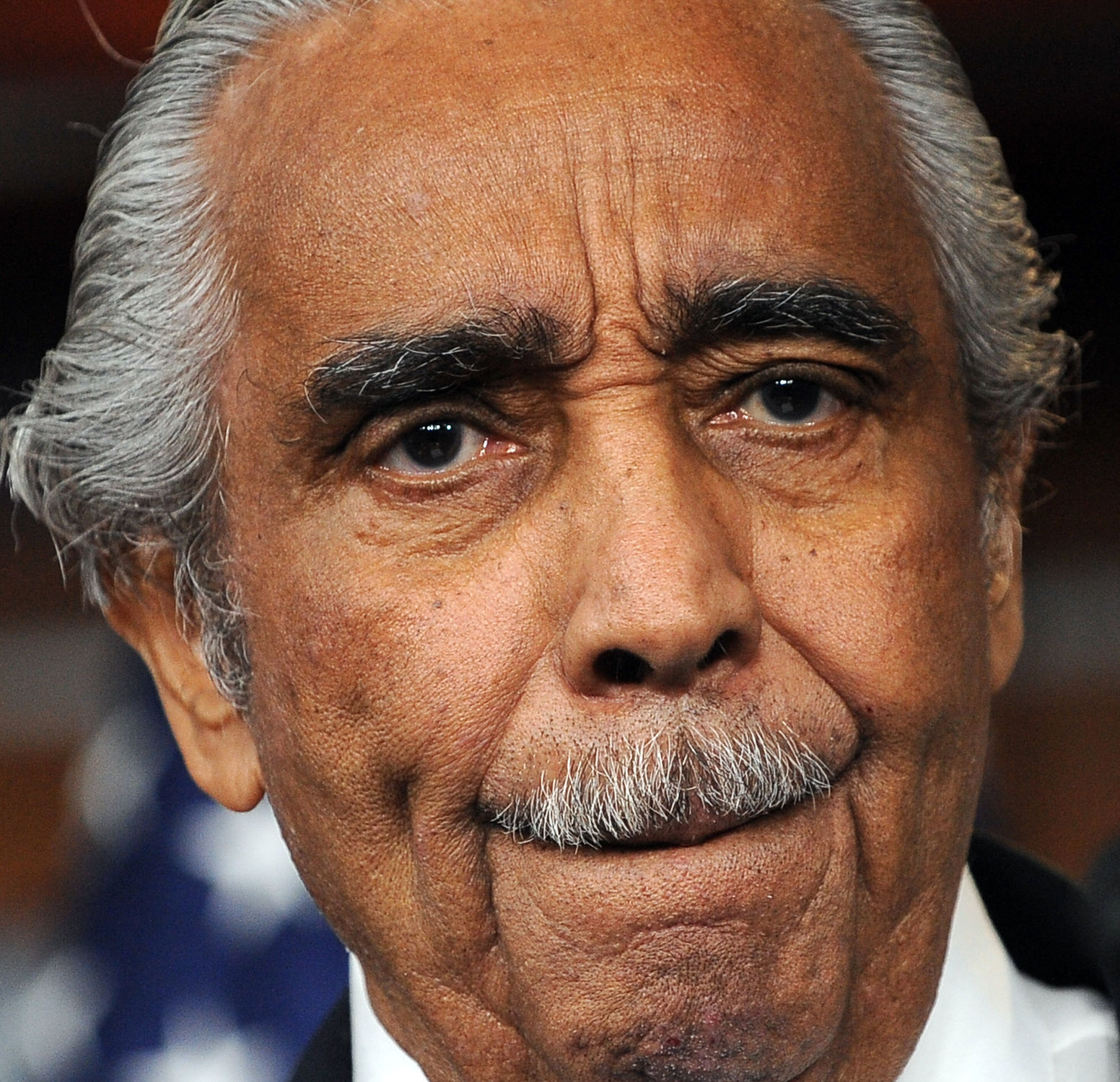 Rep. Charlie Rangel, D-NY, speaks to the media after the House of Representatives voted to censure him on Capitol Hill in Washington on December 2, 2010. UPI/Roger L. Wollenberg