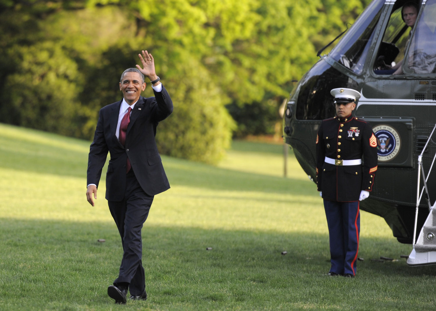 President Obama returns to Washington from summits in Mexico and Costa Rica