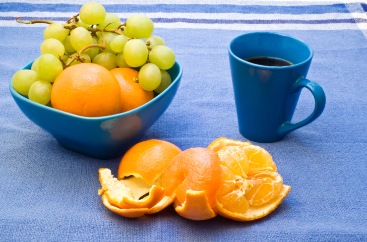 Coffe and fruit