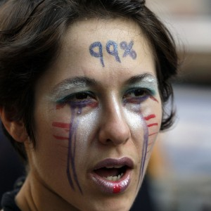 Protesters Gather On Wall Street For Occupy Second Anniversary