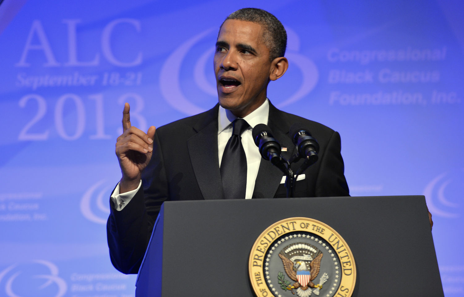 President Obama addresses Congressional Black Caucus Foundation Dinner