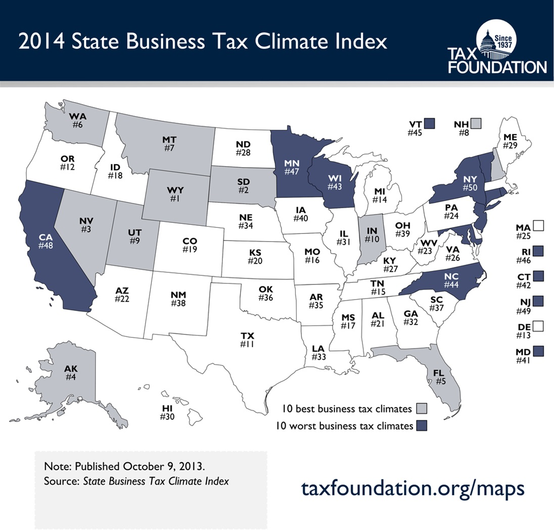 2014 State Business Tax Climate Index