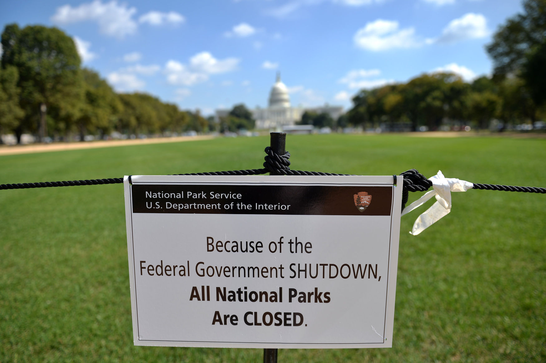 Government Shutdown Closes Locations on the National Mall in Washington
