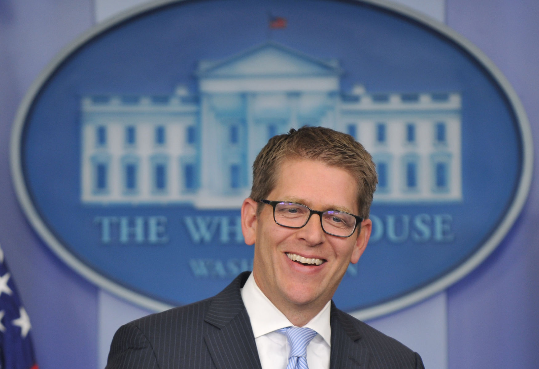 White House Press Secretary Jay Carney Hold the Daily Briefing in Washington