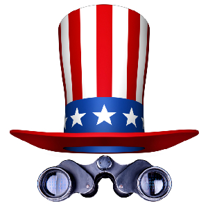 uncle sam hat and binoculars
