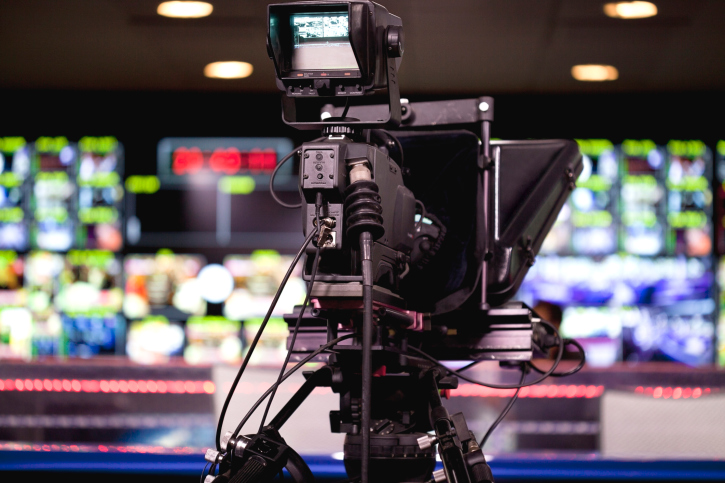 Digital camera in TV studio for video production