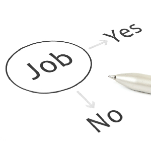 graphic showing jobs yes and no