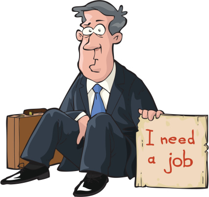 Graphic depicting man who Needs a job