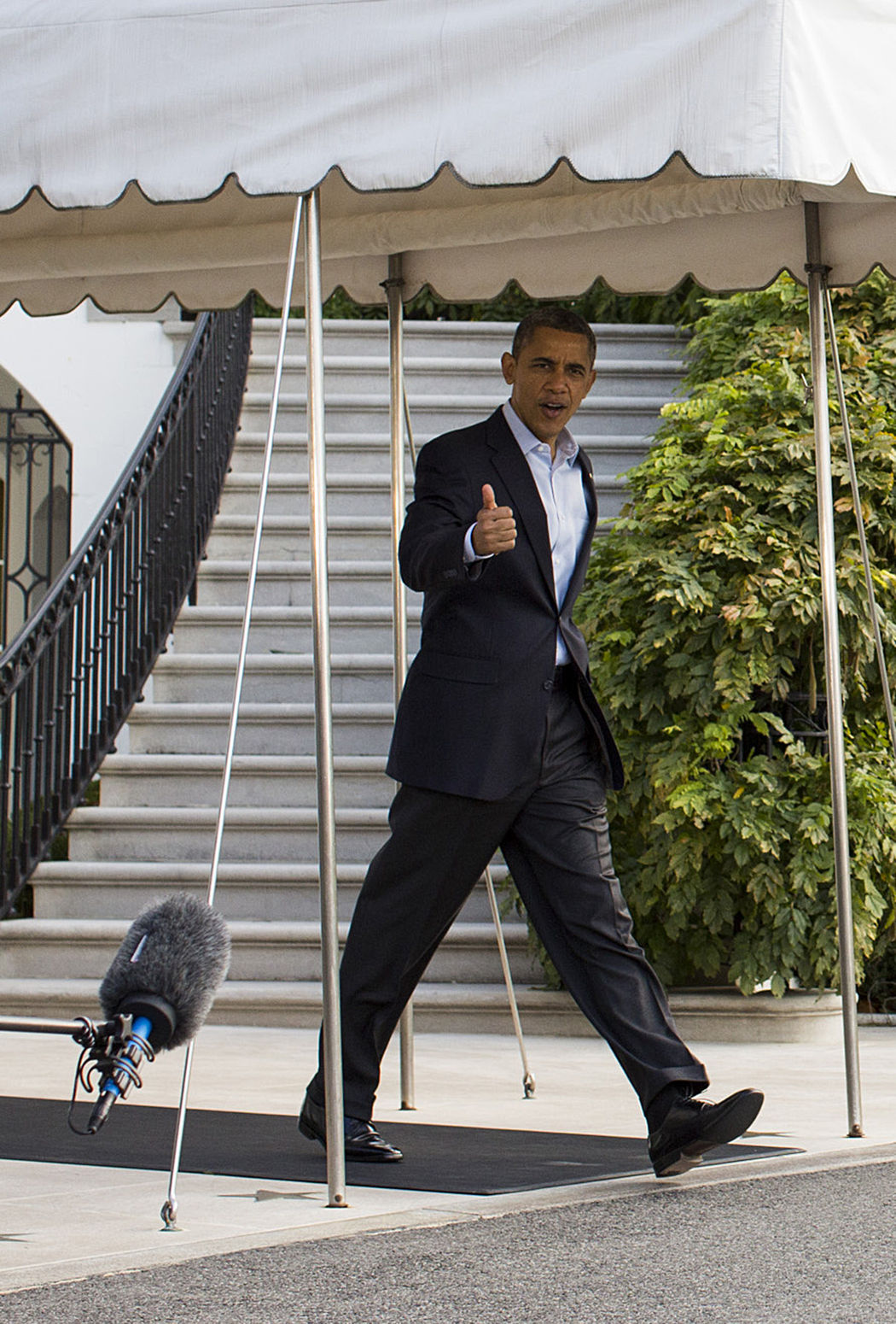 President Obama Departs White House For Campaign Trail