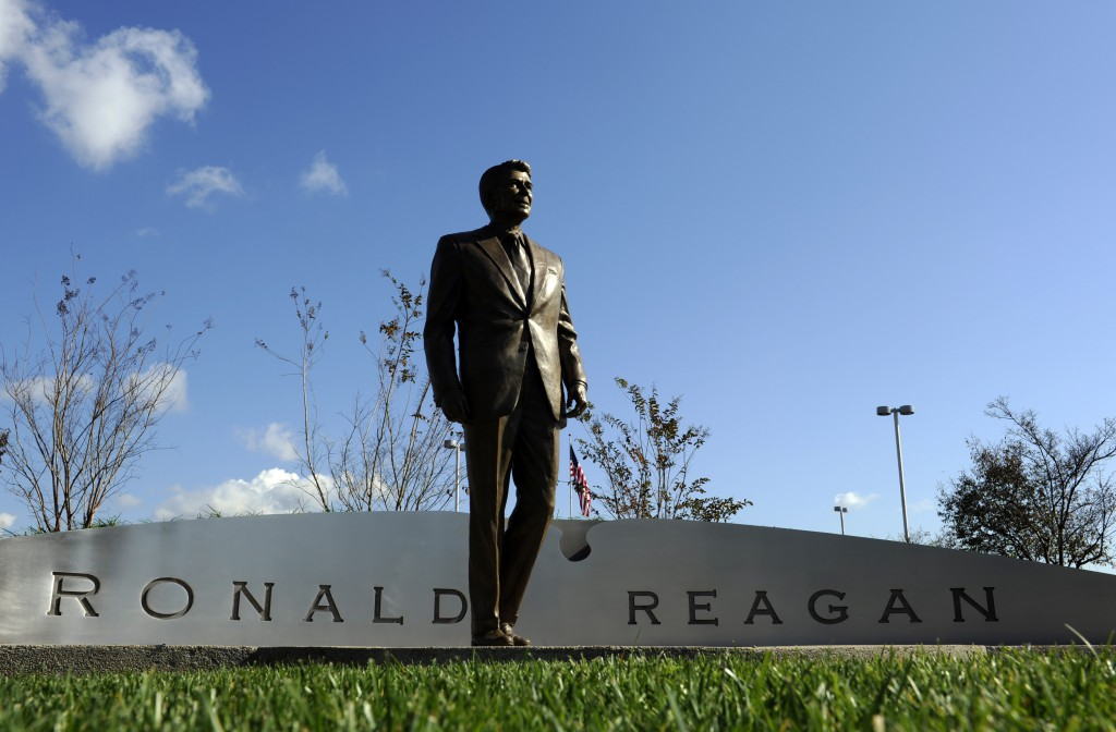 A 9-foot-tall, 900-pound bronze statue of President Ronald Reagan