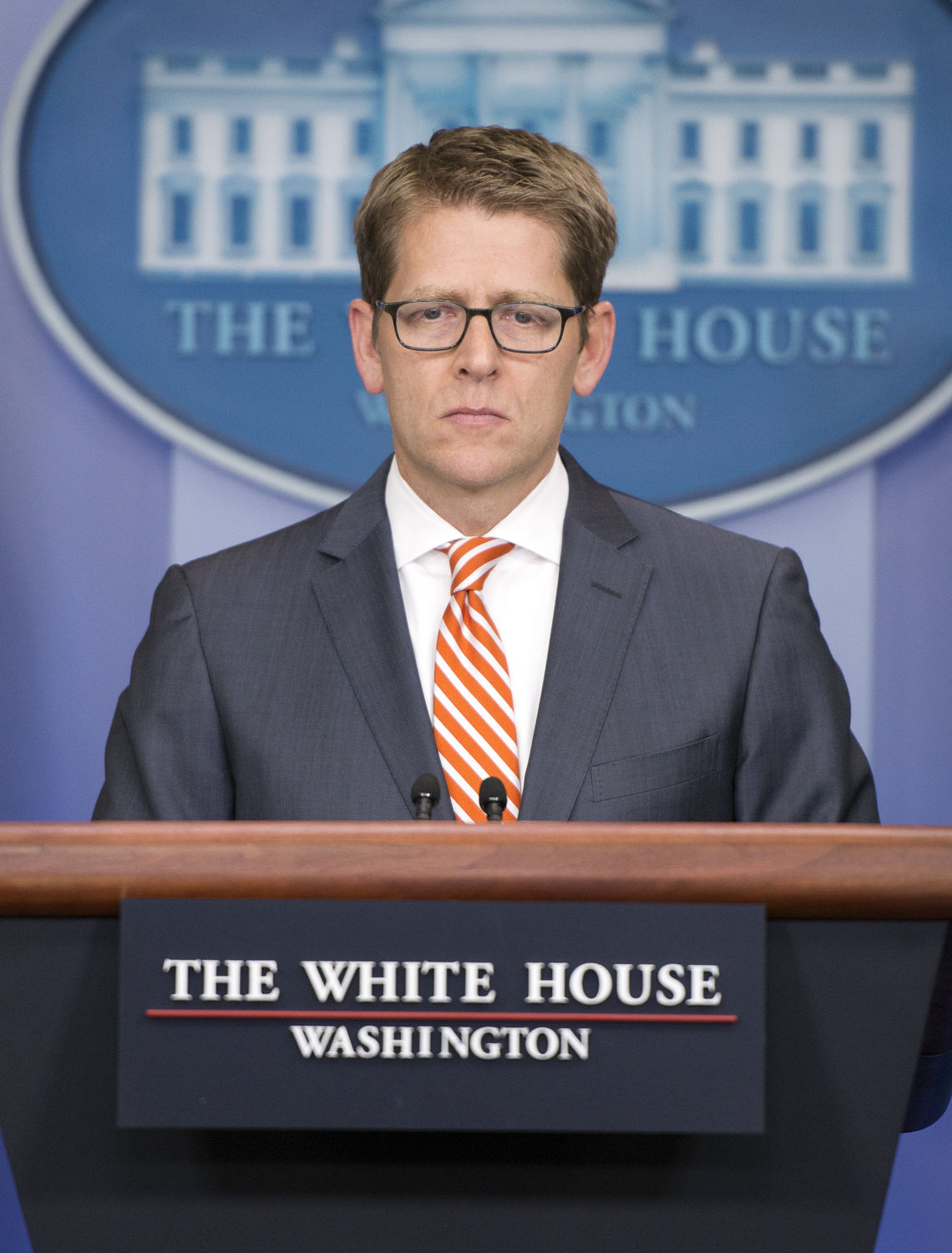 White House Press Secretary Jay Carney conducts his daily press briefing in the Brady Press Briefing Room of the White House in Washington, D.C. on December 12, 2013. He took questions about access for still photographers in the wake of the op-ed piece in the New York Times by Santiago Lyon, Vice President and Director of Photography at The Associated Press. UPI/Ron Sachs/Pool