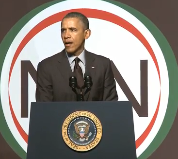 Barack Obama at National Action Network's annual convention