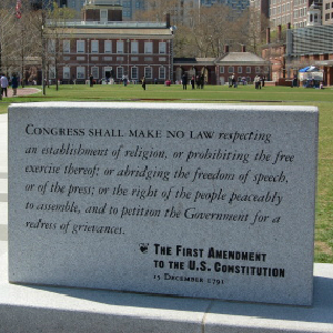 first amendment monument