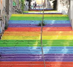 rainbow stairwell