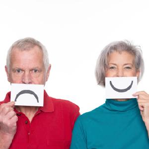 moody senior couple