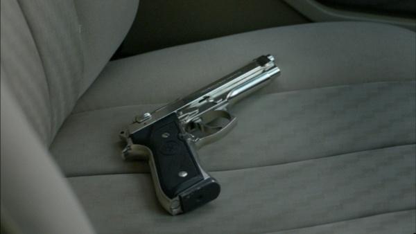gun on car seat