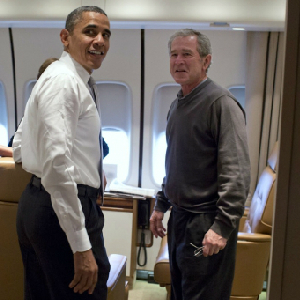 obama and george w. bush
