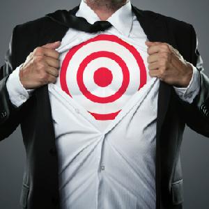target on man