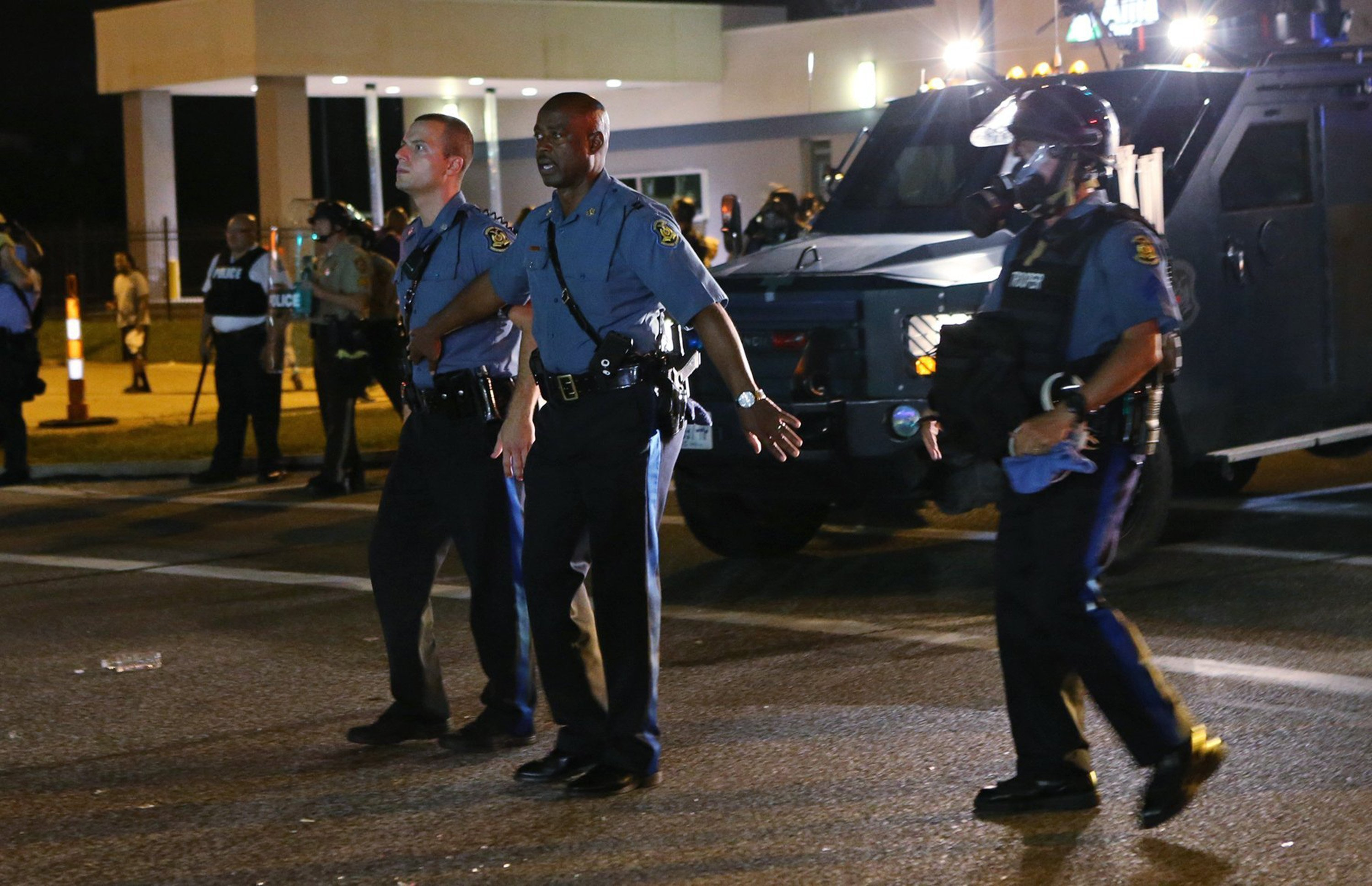 Capt. Ron Johnson pulled his men away from aggresive protesters in Ferguson on Monday night.