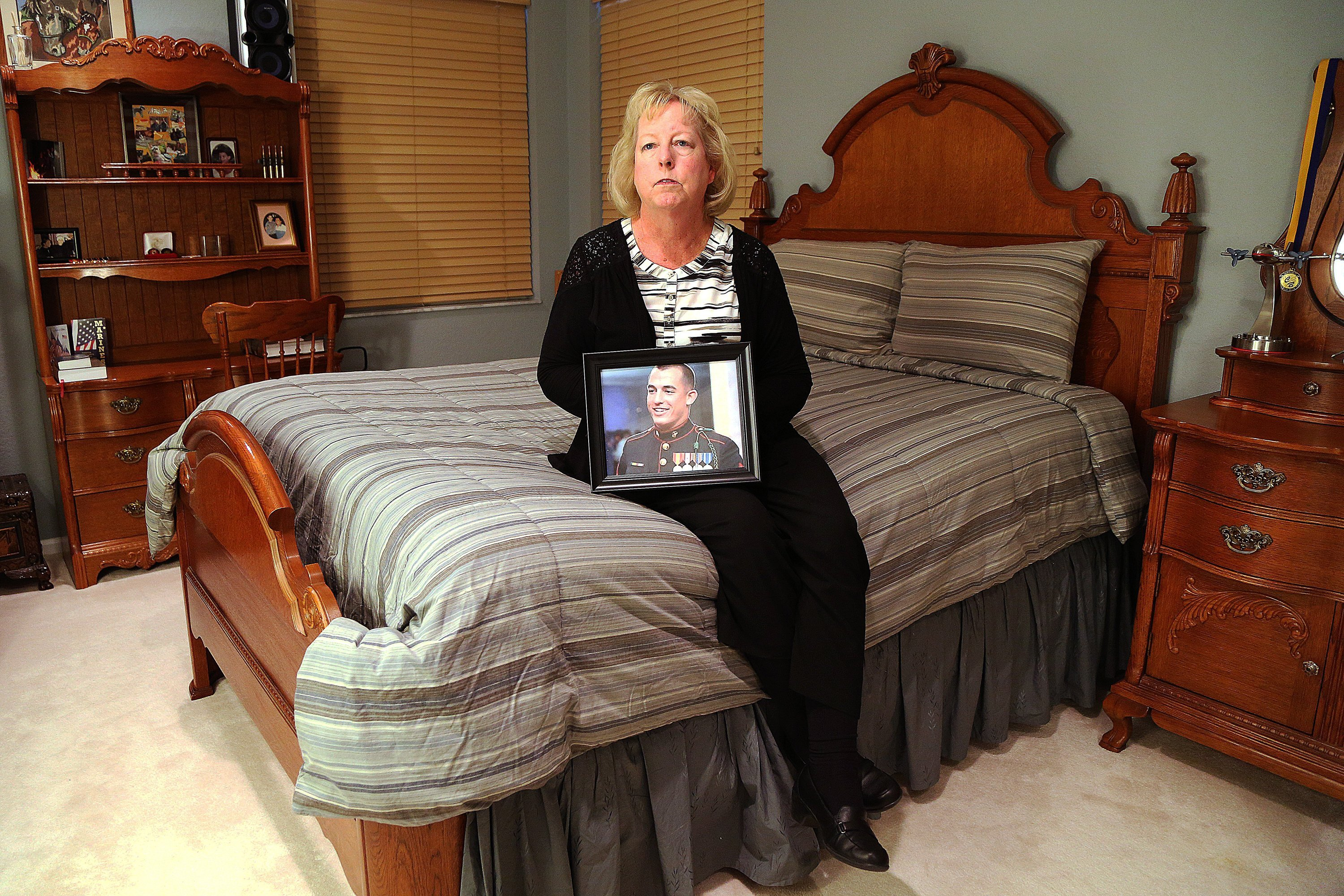Jill Tahmooressi, mother of Marine Sgt. Andrew Tahmooressi, who was arrested in Mexico more than four months ago after he crossed the border in possession of guns and ammunition, at her Weston, Fla., home on August 7, 2014. (Carline Jean/Sun Sentinel/MCT)