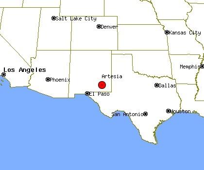 Artesia, N.M. locator map