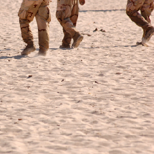soldiers boots deserts