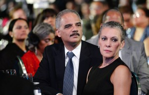 U.S. Attorney General Eric Holder, left, and his wife, Sharon Malone, attend the Congressional Black Caucus Foundation Annual Phoenix Awards dinner, September 27, 2014 in Washington, DC. The CBC's annual conference brings together activists, politicians and business leaders to discuss public policy impacting Black communities in America and abroad. (Olivier Douliery/Abaca Press/MCT)