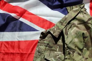 UK military and Union flag