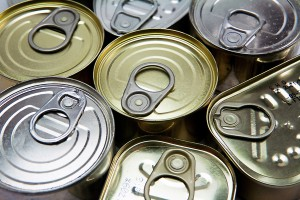 Cans of different sizes and opening