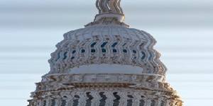 blurred photo of capitol building
