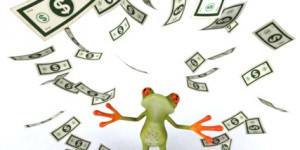 Frog with dollars