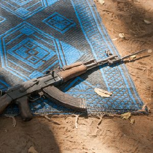 prayer blanket and weapon