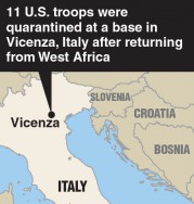 U.S. troops quarantined in Italy