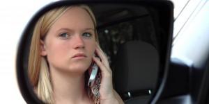 Teenage girl calling for help