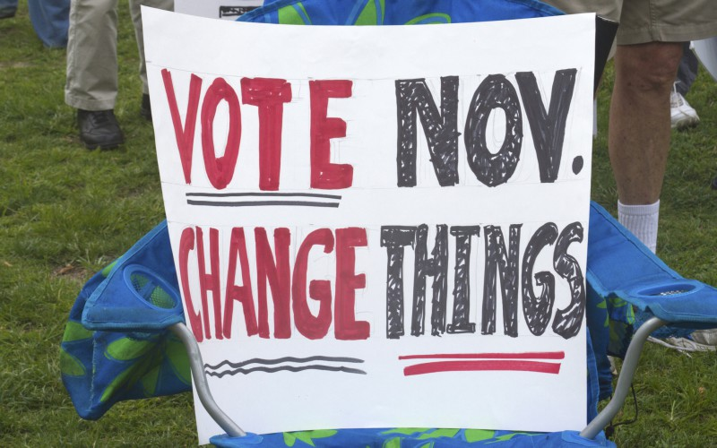 Vote November election, Change Things Sign