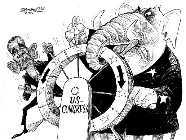 karikatur für tribüne-machtkampf