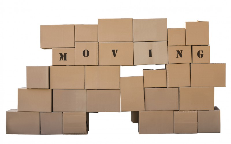Cardboard boxes. Moving.