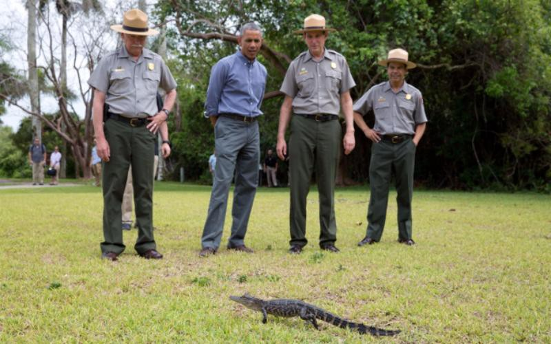 President Obama visited Everglades National Park in Florida on Earth Day.