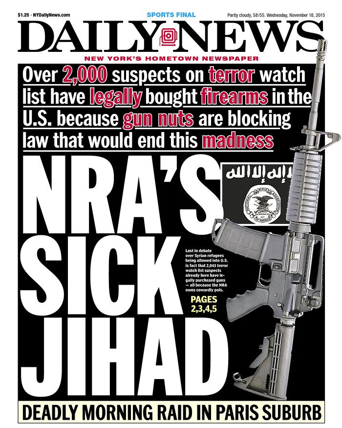 New York Daily News Cover: New York Daily News Stirs Controversy Over 'thoughts And