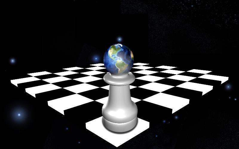 earth as pawn; global warming, climate change concept