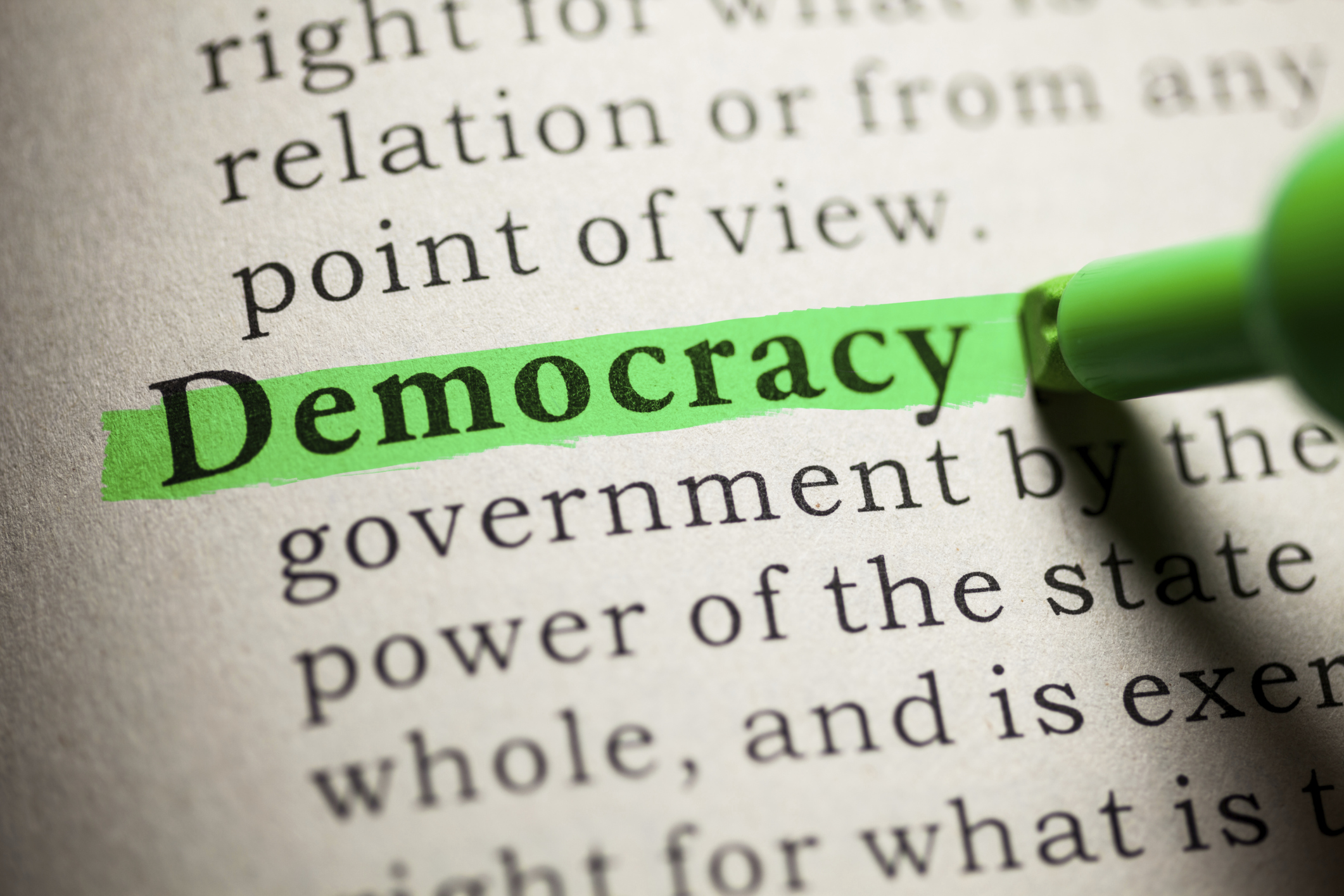 short speech on democracy 438 words