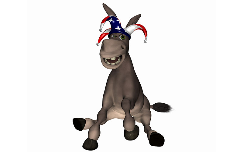 Image result for democrat donkey clown