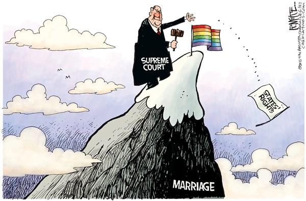 PoliticalCartoons.com Cartoon  Gay Rights Cartoon