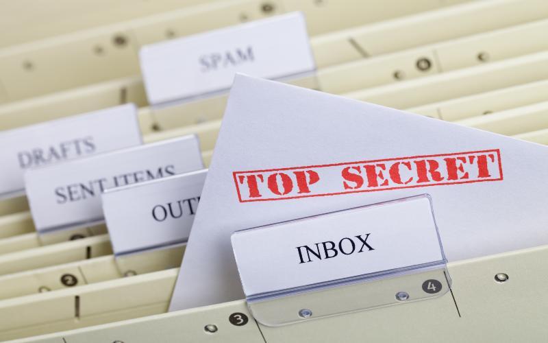 top secret email concept
