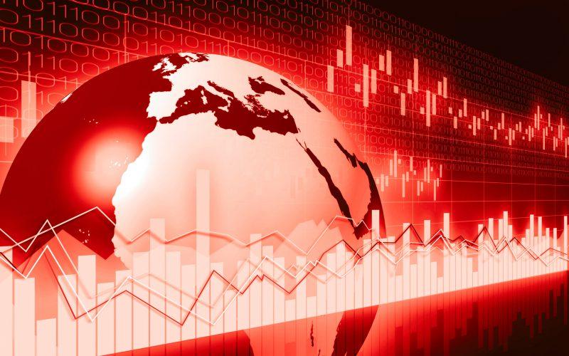Globe representation of multinational corporation