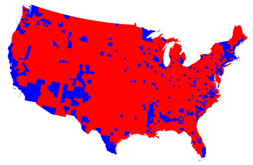 The Electoral College founded by The Founding Fathers is a brilliant idea! Countymaprb512